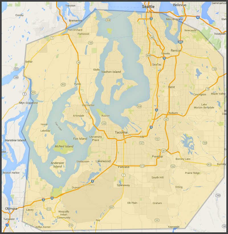 Our Tacoma-Seattle WA Service Area